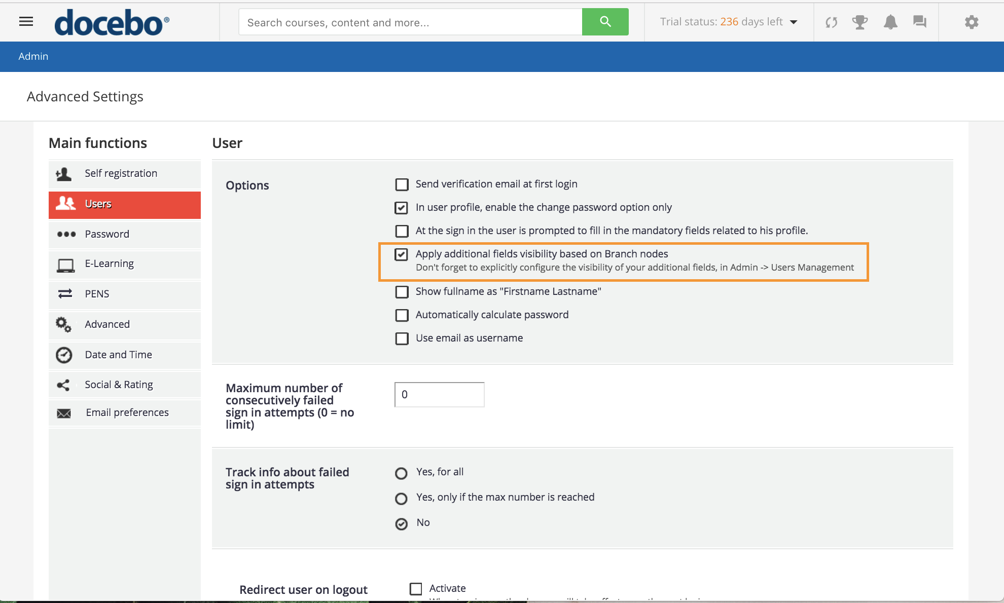 user add fields branches
