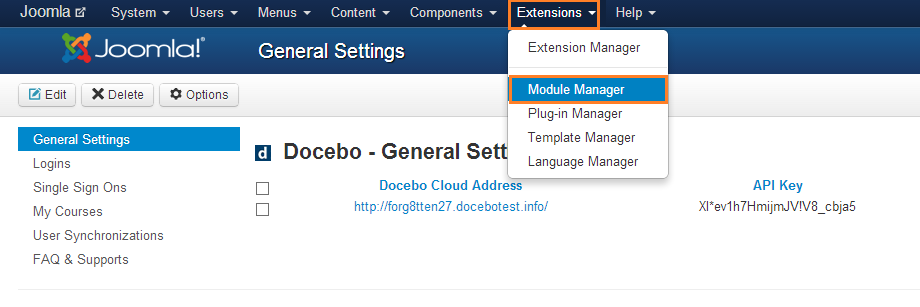 Extensions: Module Manager