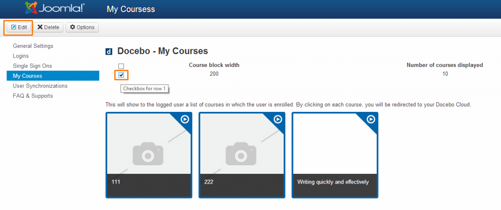 Docebo: My courses