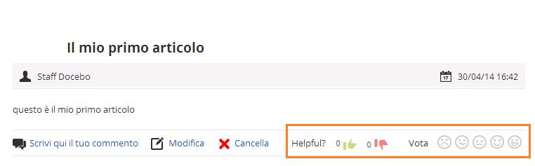 Come attivare e impostare l'app blog: risultato