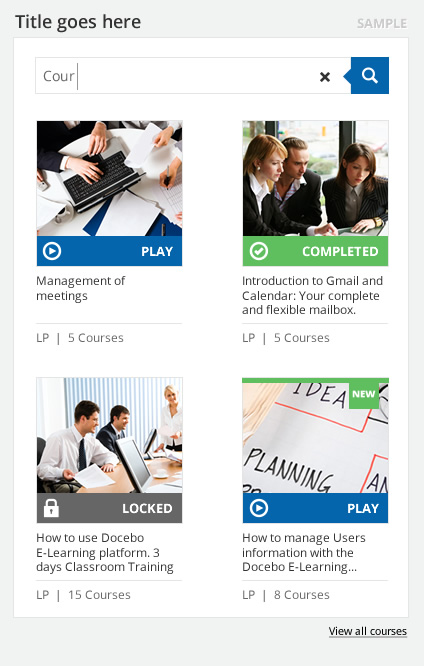 My Courses - Docebo eLearning platform