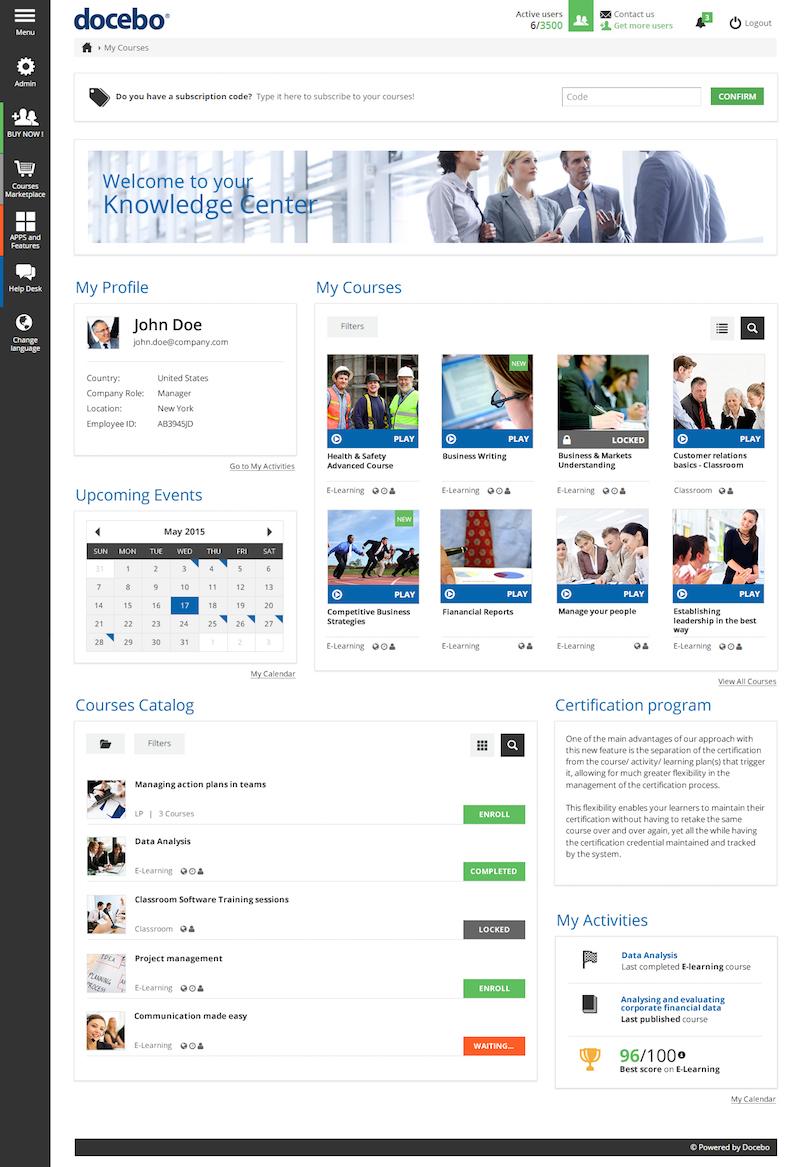 Widgets - Docebo eLearning platform