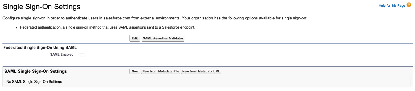 salesforce sso enable SAML