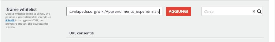 Pagina HTML - iFrame Whitelist