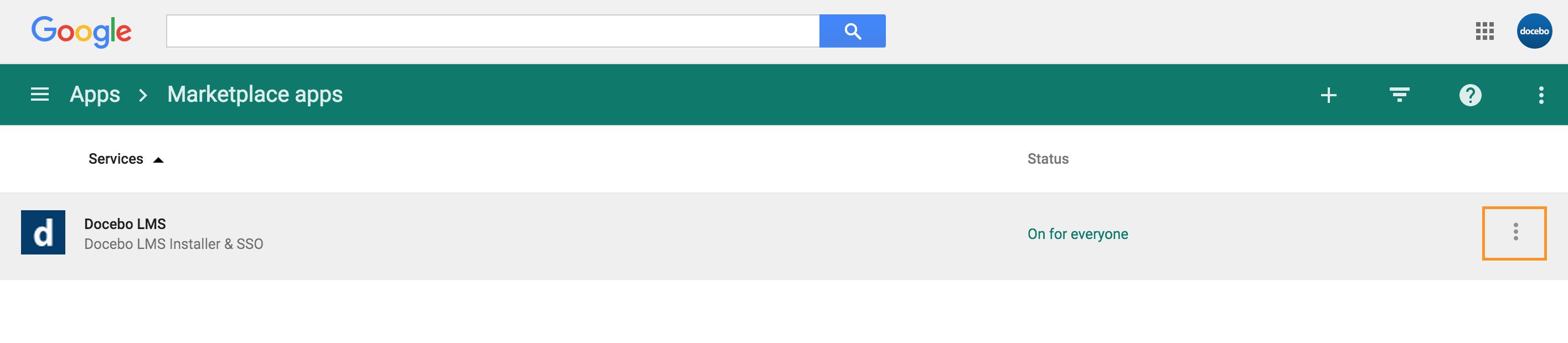 Google Marketplace Docebo LMS