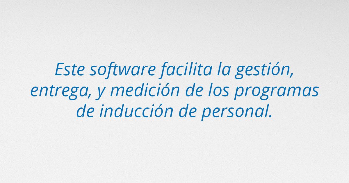 software para la inducción