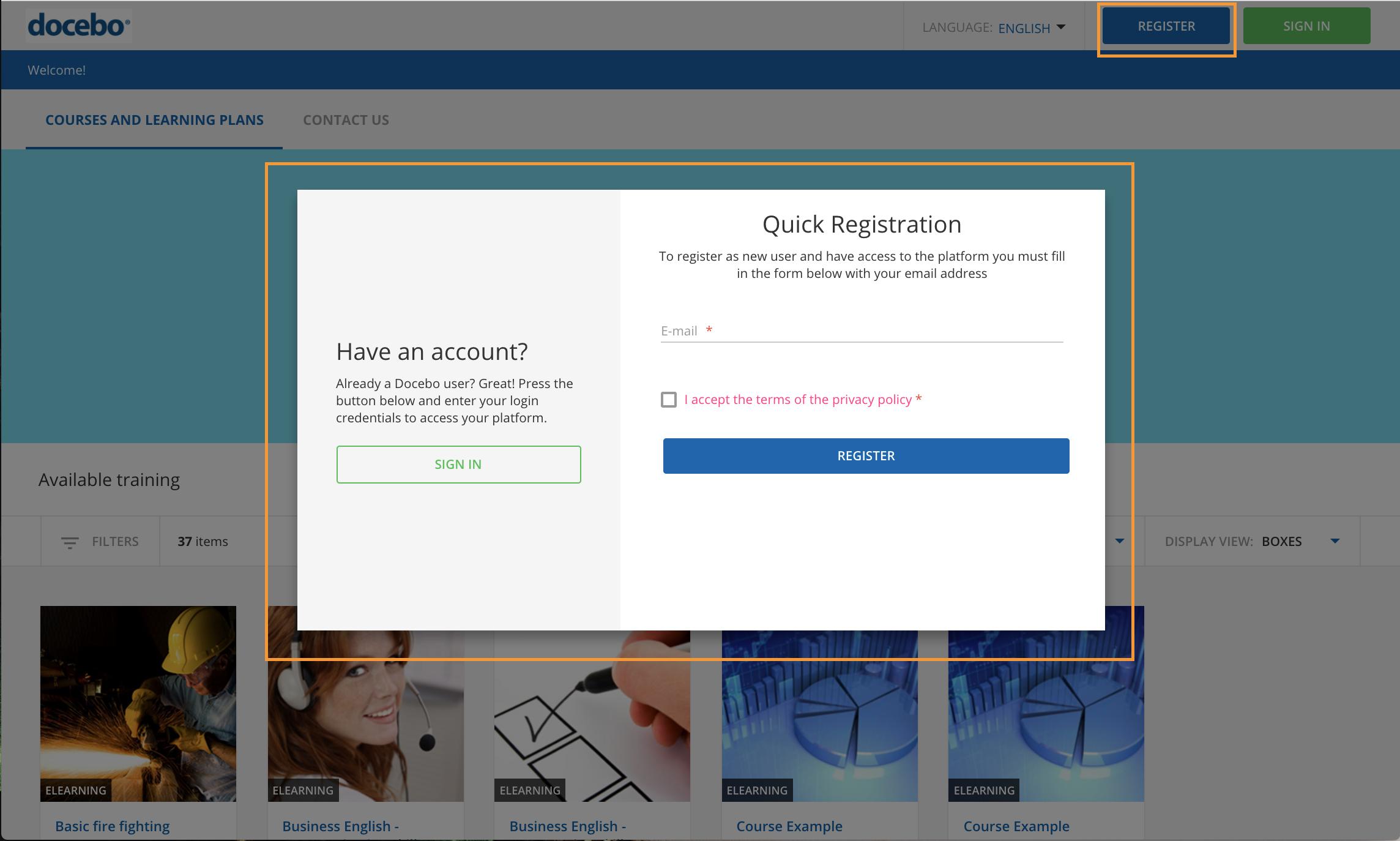 quick registration learner