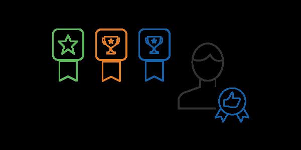 Docebo Coach & Share offre funzionalità di gamification per incoraggiare e riconoscere i migliori contributi degli utenti