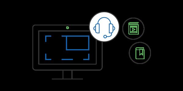 Registra webinar, chiamate skype e demo da condividere con i giusti utenti all'interno del tuo LMS