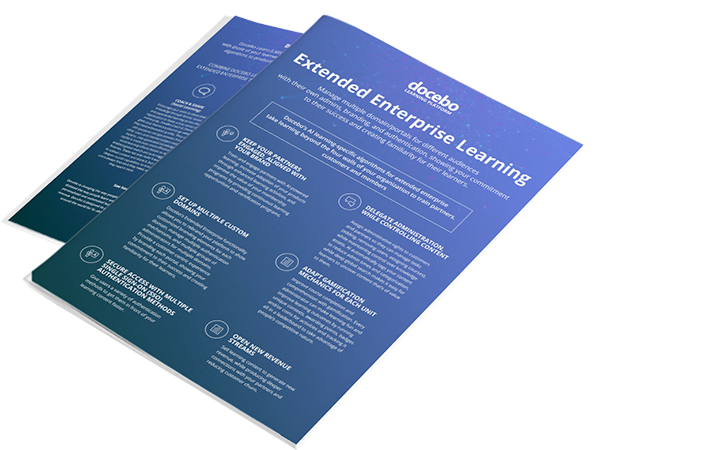 Docebo's learning-specific AI algorithms for extended enterprise makes training partners, customers and members very easy