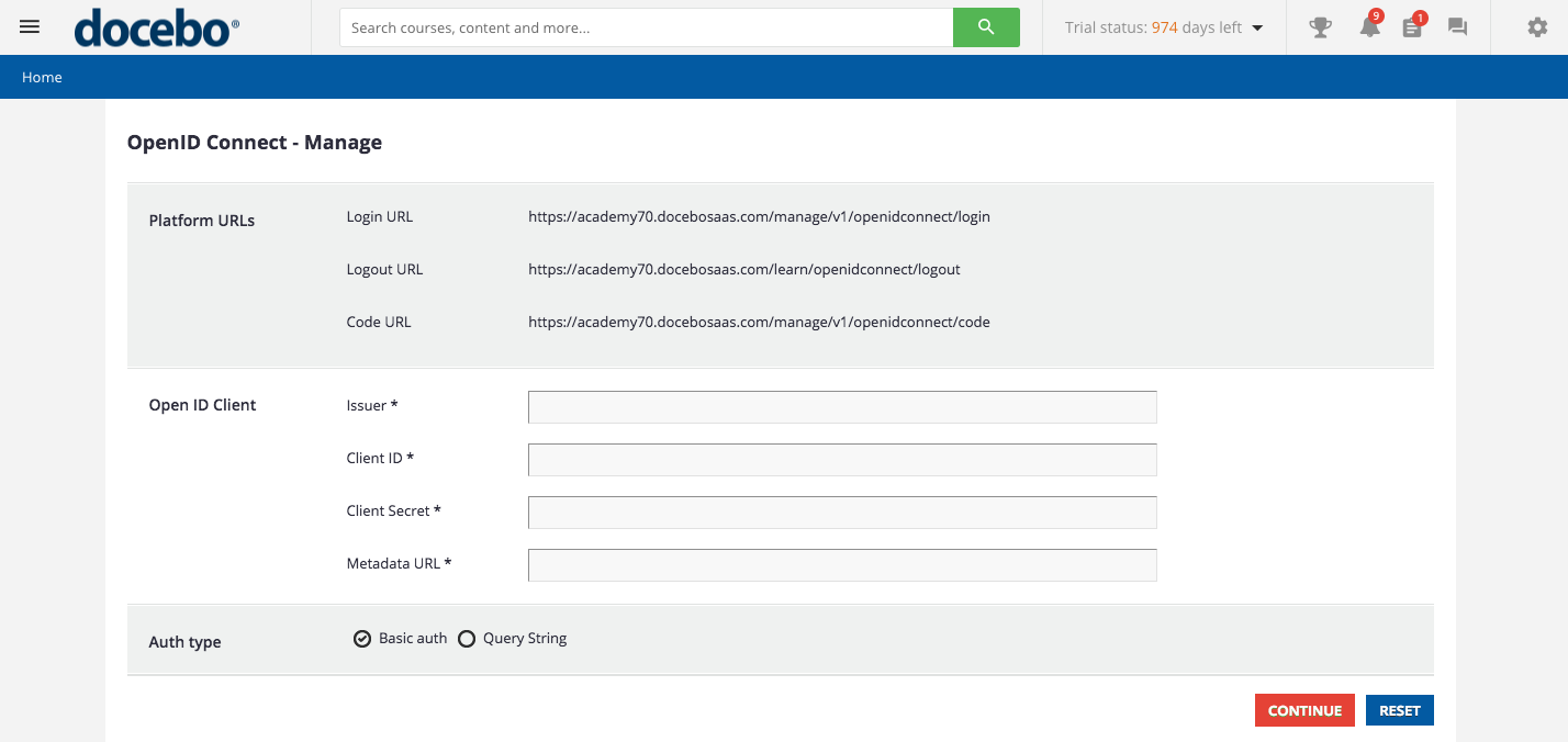 Docebo for OpenID Connect - Docebo