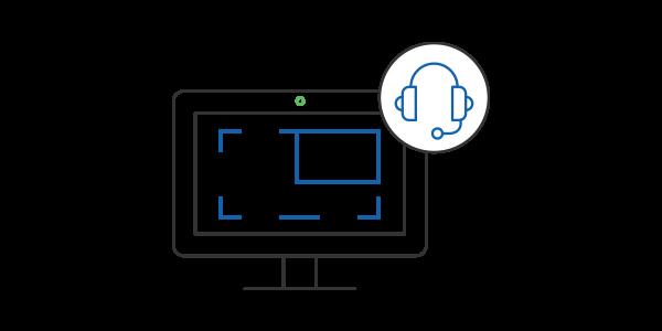 Capturas de pantalla con la integración de Docebo con Screencast-O-Matic