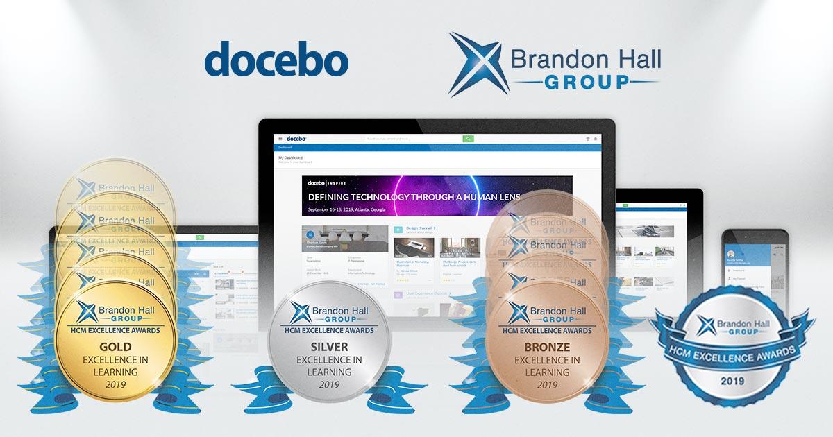 Docebo conquista 10 premi - con 5 ori - ai Brandon Hall Group HCM Excellence Awards 2019!