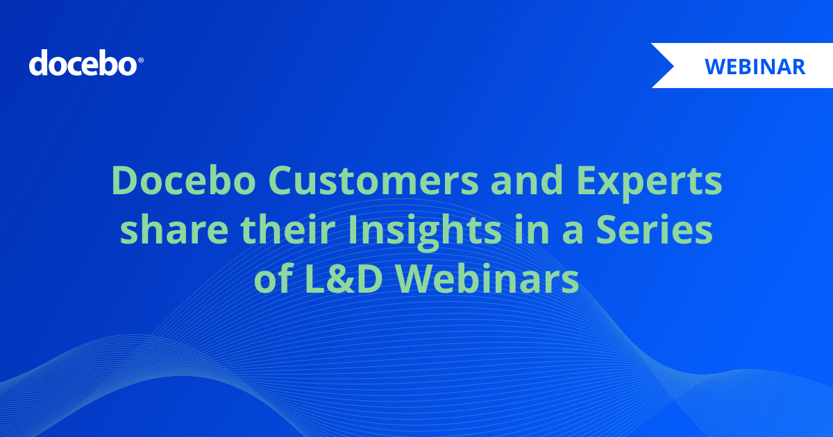 Docebo launches webinar series for L&D and tech industry professionals in Europe