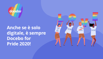 Anche se è solo digitale, è sempre Docebo for Pride 2020!