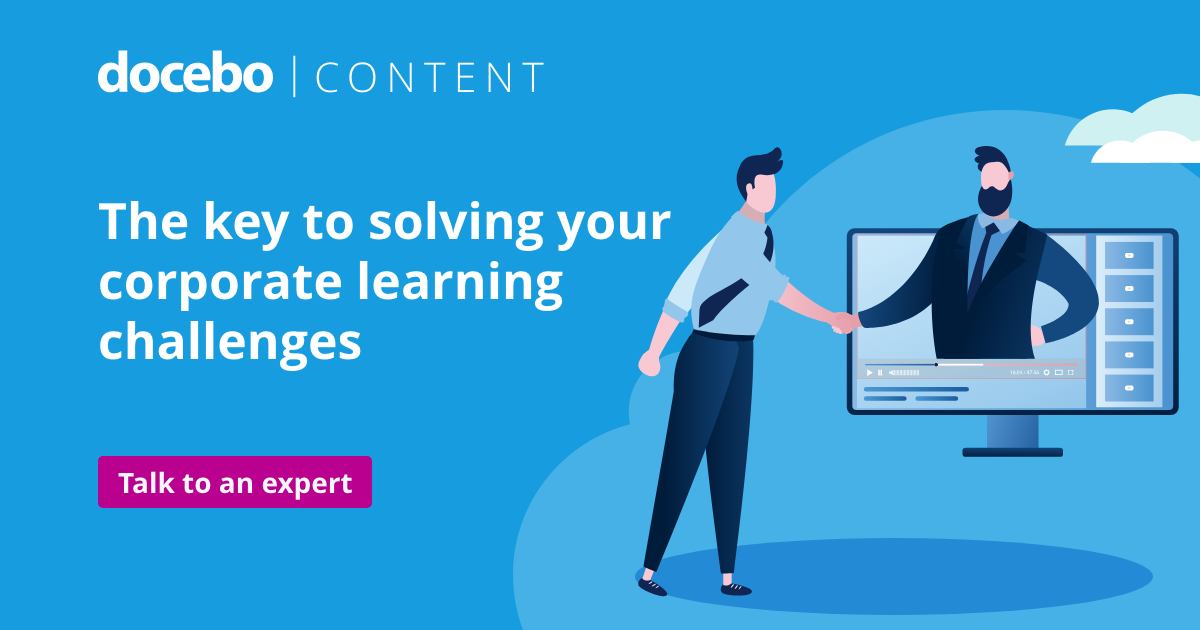 Solving corporate learning challenges with e-learning content